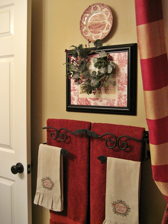 My French Country Guest Bath With A Surprising Shower Curtain Hometalk