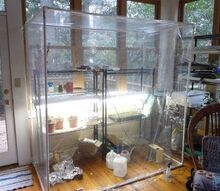 building an indoor greenhouse, gardening, repurposing upcycling, greenhouse is 77 high 41 deep and 75 wide