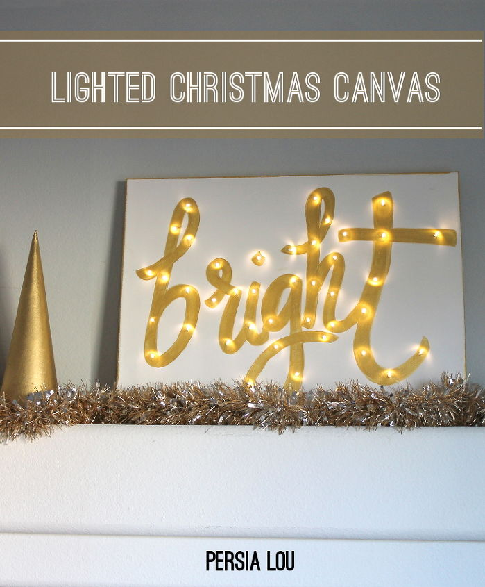 how to make a lighted canvas