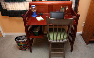 upcycle baby changing table to desk, painted furniture, repurposing upcycling, Changing table upcycled into a functional desk in use