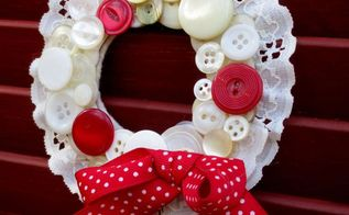 how to make vintage button wreath ornaments, christmas decorations, crafts, seasonal holiday decor, wreaths, Vintage Button Wreath Ornament