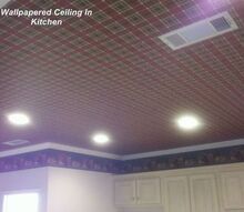 q wallpapered ceilings, cleaning tips, home decor