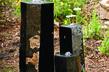 landscaping ideas fountains bubbling urns brass spitters bubbling boulders bjl, ponds water features, Bubbling Basalt Columns