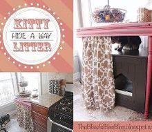 hide a way kitty litter box, wildlife animals, DIY kitty litter hide a way