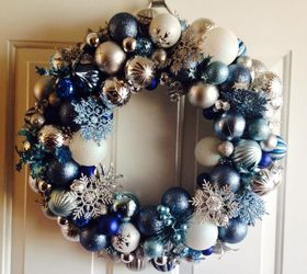 How to Make A Frozen Inspired Ornament Wreath | Hometalk