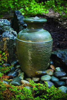 affordable diy fountains for your landscape, gardening, ponds water features, Amphora vase fountain