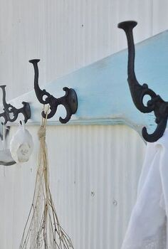 salvaged bed side rail becomes coat rack, cleaning tips, repurposing upcycling