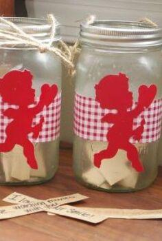 mason jar love buckets, chalkboard paint, crafts, mason jars, seasonal holiday decor, valentines day ideas, Valentines Love Buckets made using mason jars and Modge Podge