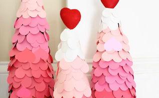 diy ombre valentine s day tree, seasonal holiday d cor, valentines day ideas
