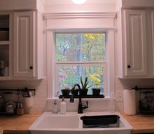 kitchen redo ideas using white paint, countertops, kitchen backsplash, kitchen cabinets, kitchen design, paint colors, Custom window trim No miter cuts