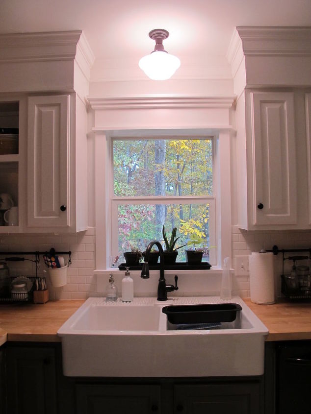 Kitchen redo ideas using white paint hometalk for Kitchen ideas no window
