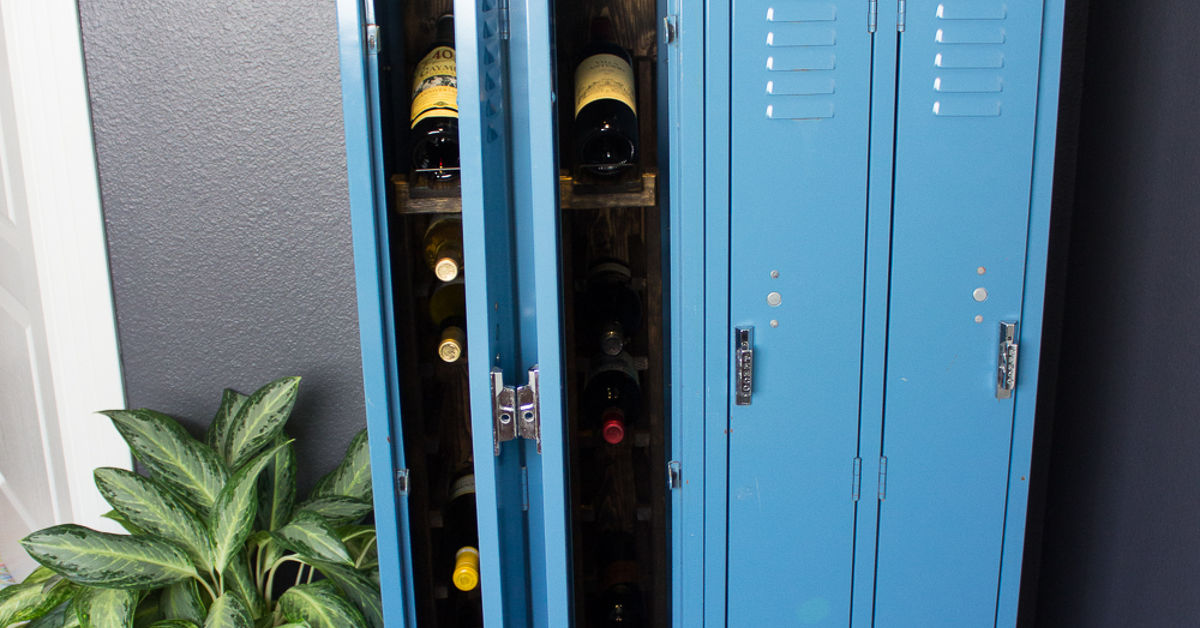 Resale Furniture San Antonio Gym Locker Turned Wine Storage! | Hometalk