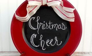 diy chalkboard plate diygifts christmas, chalkboard paint, christmas decorations, crafts, seasonal holiday decor
