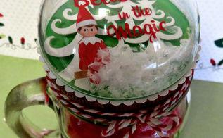 diy snow globe mason jar topper doubles as an ornament, christmas decorations, crafts, mason jars, seasonal holiday decor