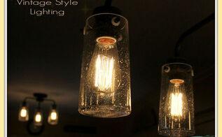 vintage style kitchen lighting update buh bye boob light, diy, electrical, home decor, kitchen design, lighting
