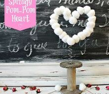 springy pom pom heart, crafts, valentines day ideas, Springy pom pom heart