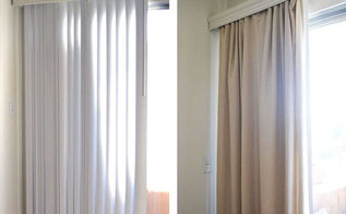 how to conceal vertical blinds with a curtain, diy, home decor, how to, windows
