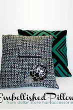 embellished throw pillow, crafts, Find out how easy it is to add glamour to your living room