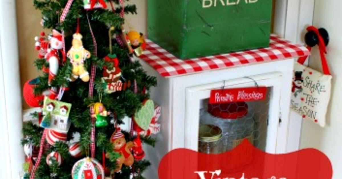 Vintage Kitchen Christmas Tree Hometalk