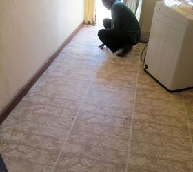 How To Paint A Tiled Kitchen Floor, Flooring, How To, Kitchen Design,