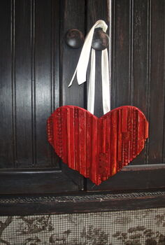 scrap wood heart, crafts, seasonal holiday decor, Scrap wood heart