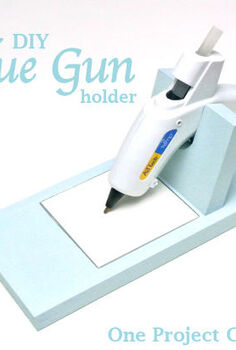 simple amp sleek glue gun holder, crafts, tools