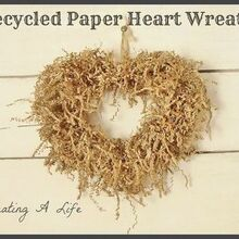 recycled paper heart wreath, seasonal holiday d cor, valentines day ideas, wreaths