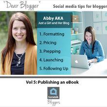 dear blogger publishing an ebook