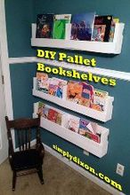 diy pallet bookshelves, pallet, shelving ideas
