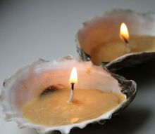 get crafty diy seashell candles, crafts