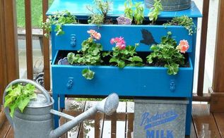 my whimsical dresser planter featured in flea market gardens magazine, gardening, repurposing upcycling, A pleasure to cut herbs from this beauty See more pics and get full details