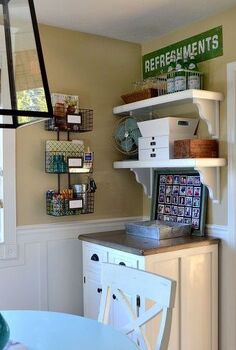 pottery barn knock off sign with a twist of lime, organizing, repurposing upcycling