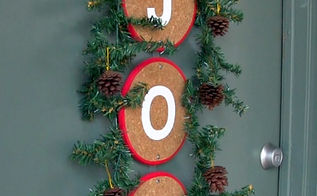 diy front door christmas decoration alternative to a wreath, christmas decorations, crafts, seasonal holiday decor, wreaths