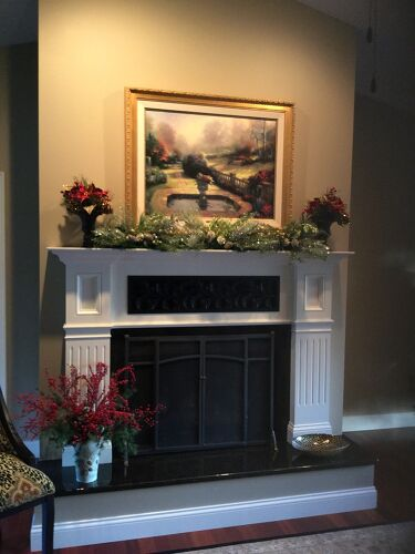This Is My Old Brown Brick Fireplace I Covered It With A Frame And Dry