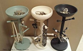 mug tree jewelry holders, chalk paint, organizing, repurposing upcycling, storage ideas