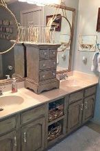 bathroom vanity makeover with annie sloan chalk paint, chalk paint, kitchen cabinets, painted furniture, Bathroom Vanity Makeover