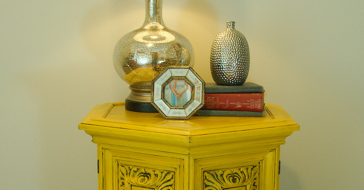 Yellow Chalkpainted Nightstand End Table Hometalk