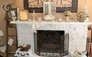 white fireplace amp mantel decor, fireplaces mantels, seasonal holiday d cor