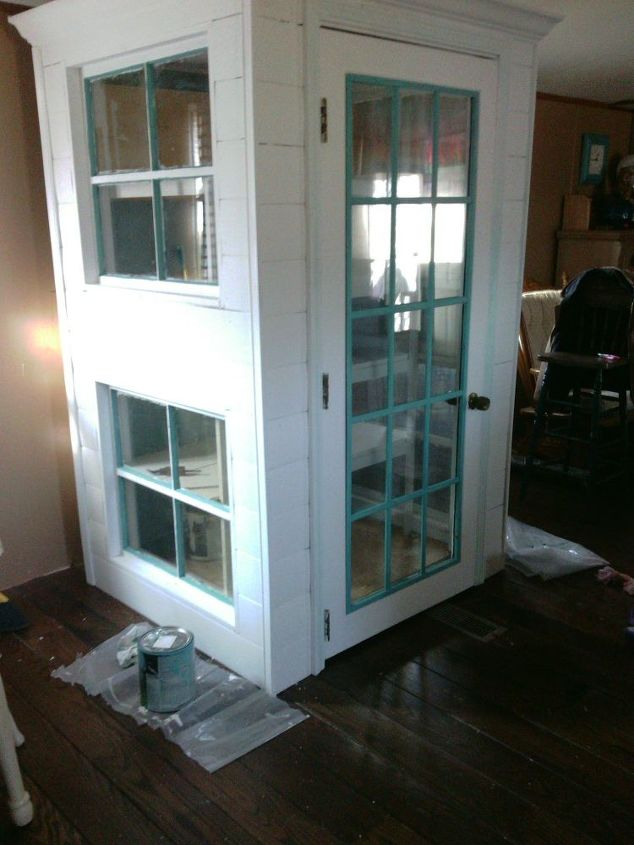 diy cabinet pantry from old doors and windows closet diy kitchen