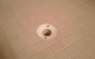 shower grout that doesn t stain or need sealed ever, bathroom ideas, home maintenance repairs, This is the new epoxy grout the floor drain doesn t have it s cover because the grout isn t cured yet