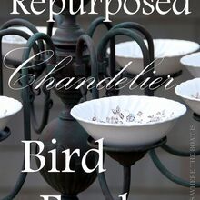 from chandelier to birdelier, outdoor living, pets animals, repurposing upcycling