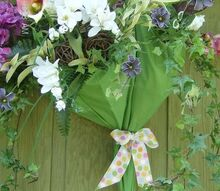 april showers bring may flowers, crafts, repurposing upcycling, seasonal holiday decor, wreaths, April Shower Wreath