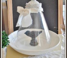 the diy cloche from light fixture parts, crafts