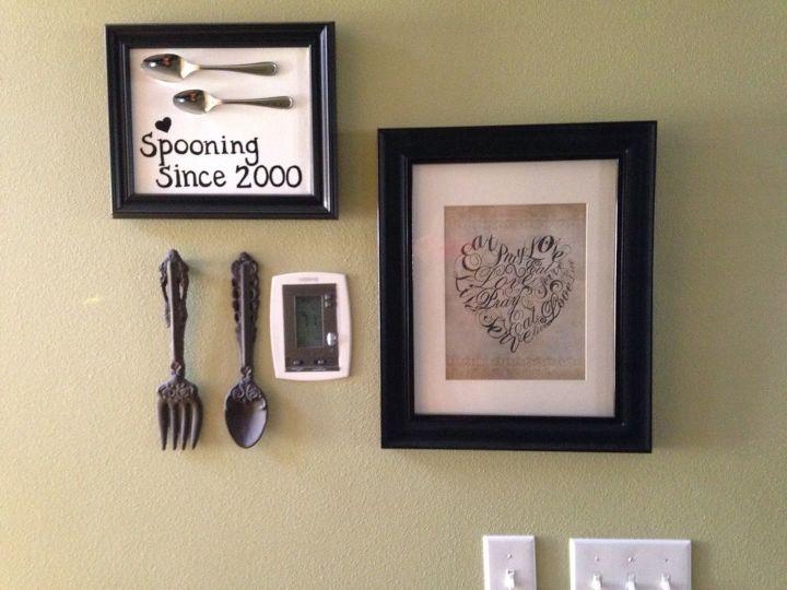Diy Easy Framed Kitchen Spoon Wall Art Hometalk