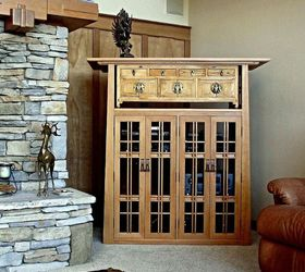 A Media Cabinet for an Arts and Crafts Style Living Room Hometalk