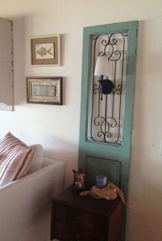 shutters made in to lighting, lighting, repurposing upcycling, Light off