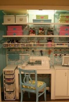 craft sewing closet, craft rooms, Craft Sewing Closet