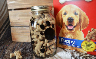 diy dog treat jar a container store knockoff, crafts, mason jars, pets animals, repurposing upcycling, storage ideas