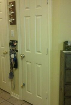 pantry remodel, cleaning tips, closet, kitchen cabinets, shelving ideas, woodworking projects, At least it looked nice and neat with the door closed