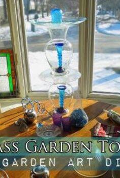 make a garden totem, crafts, gardening, repurposing upcycling, You can make a garden totem in under twenty minutes plus drying time